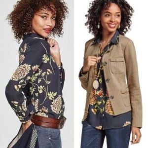 New! CAbi Floral Daisy Blossom Blouse Top #3250